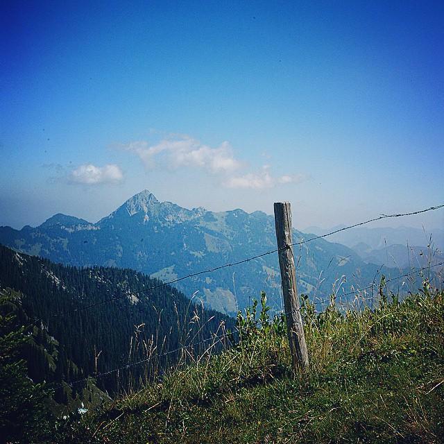 Blick vom Taubenstein/Rauhkopf in Richtung Wendelstein