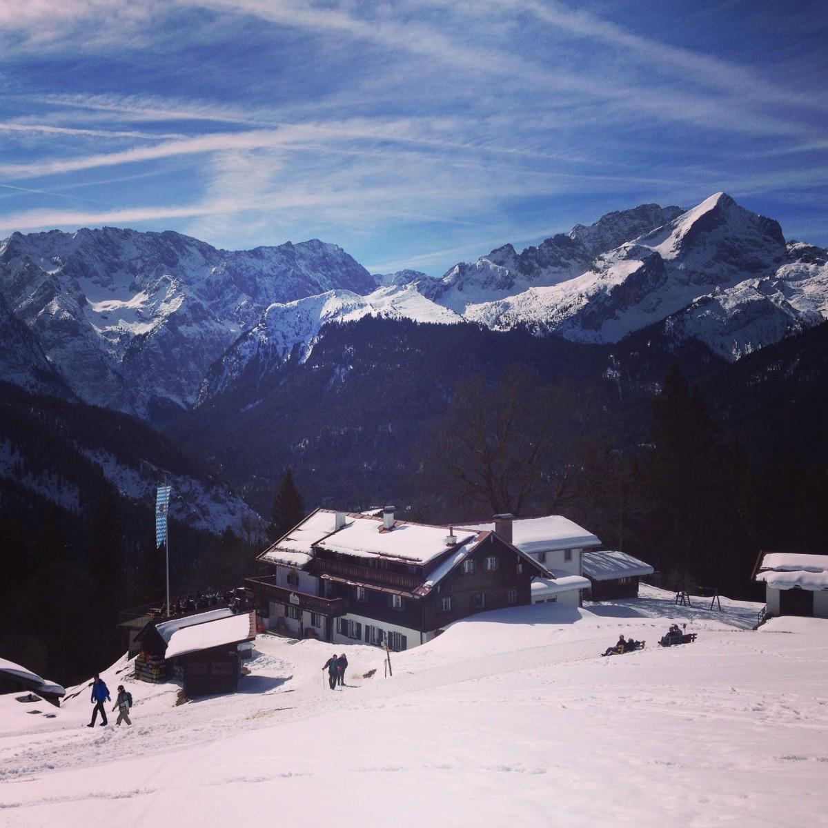 Der Berggasthof Eckbauer Skitouren-Lehrpfad am Eckbauer, Garmisch-Partenkirchen