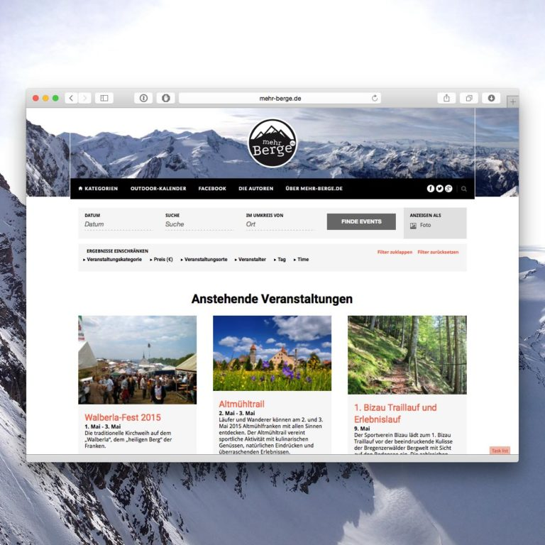 Der mehr-berge.de-Outdoor-Kalender