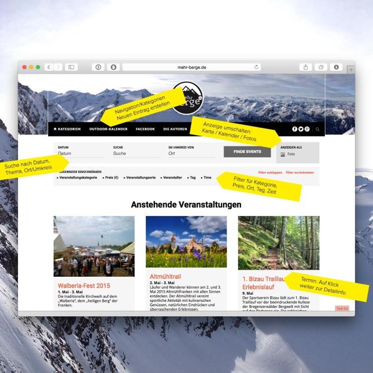Der mehr-berge.de Outdoor-Kalender: Geführte Wanderungen, Wanderfestivals, Touren, Fest & Feiern, Wettbewerbe & mehr…