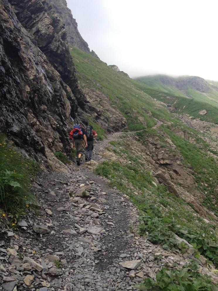 Im Sperrbachtobel - Aufstieg zur Kemptener Hütte