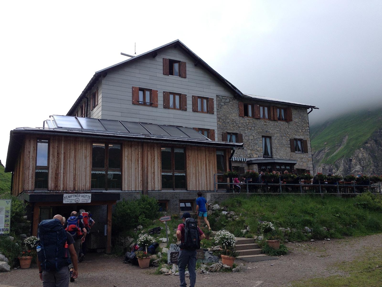 Tagesziel erreicht: Die Kemptener Hütte
