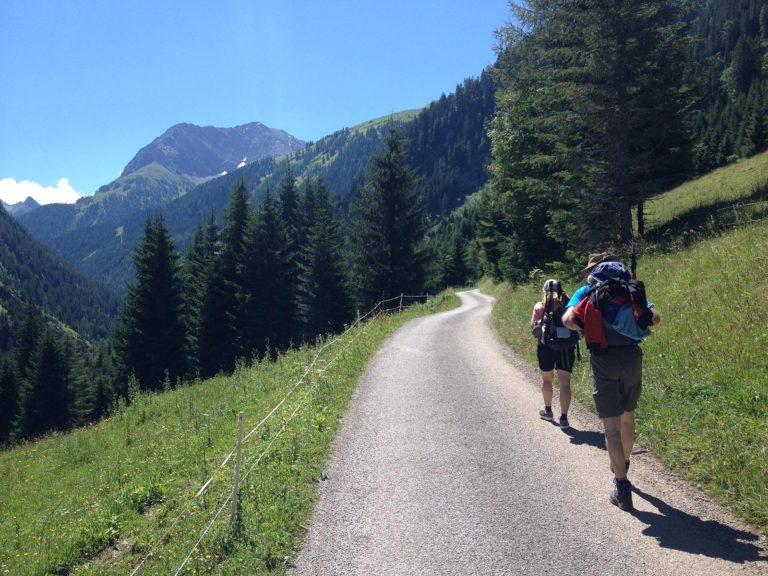 Aufstieg von Bach nach Madau