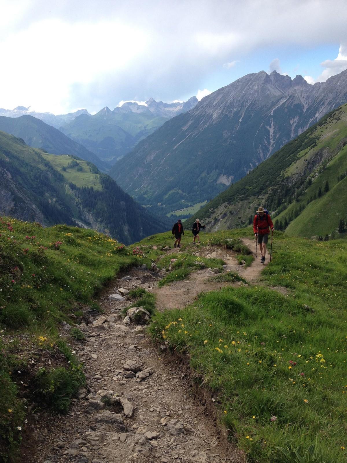 Schon knapp 1.100 Höhenmeter über Bach, aber noch rund 300 Höhenmeter bis zur Hütte