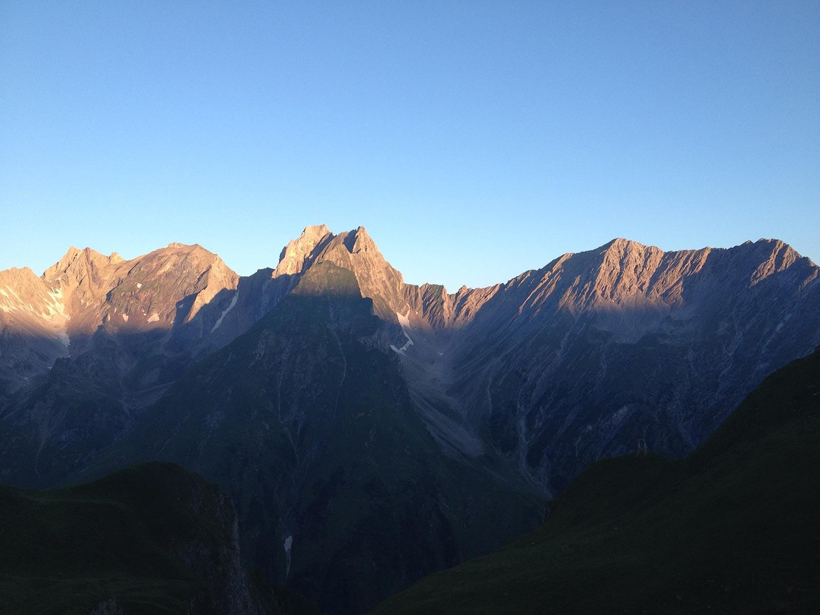 Sonnenaufgang auf der Memminger Hütte