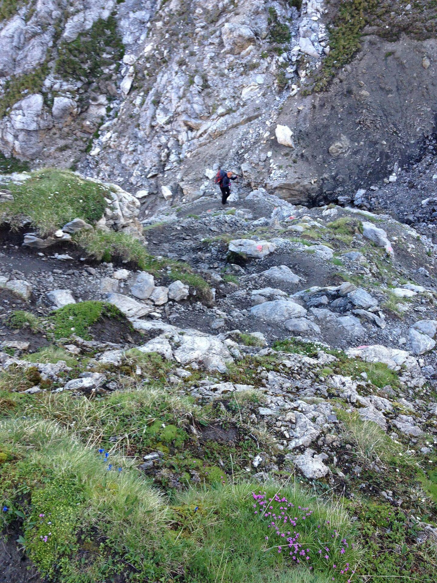 Steil bergauf