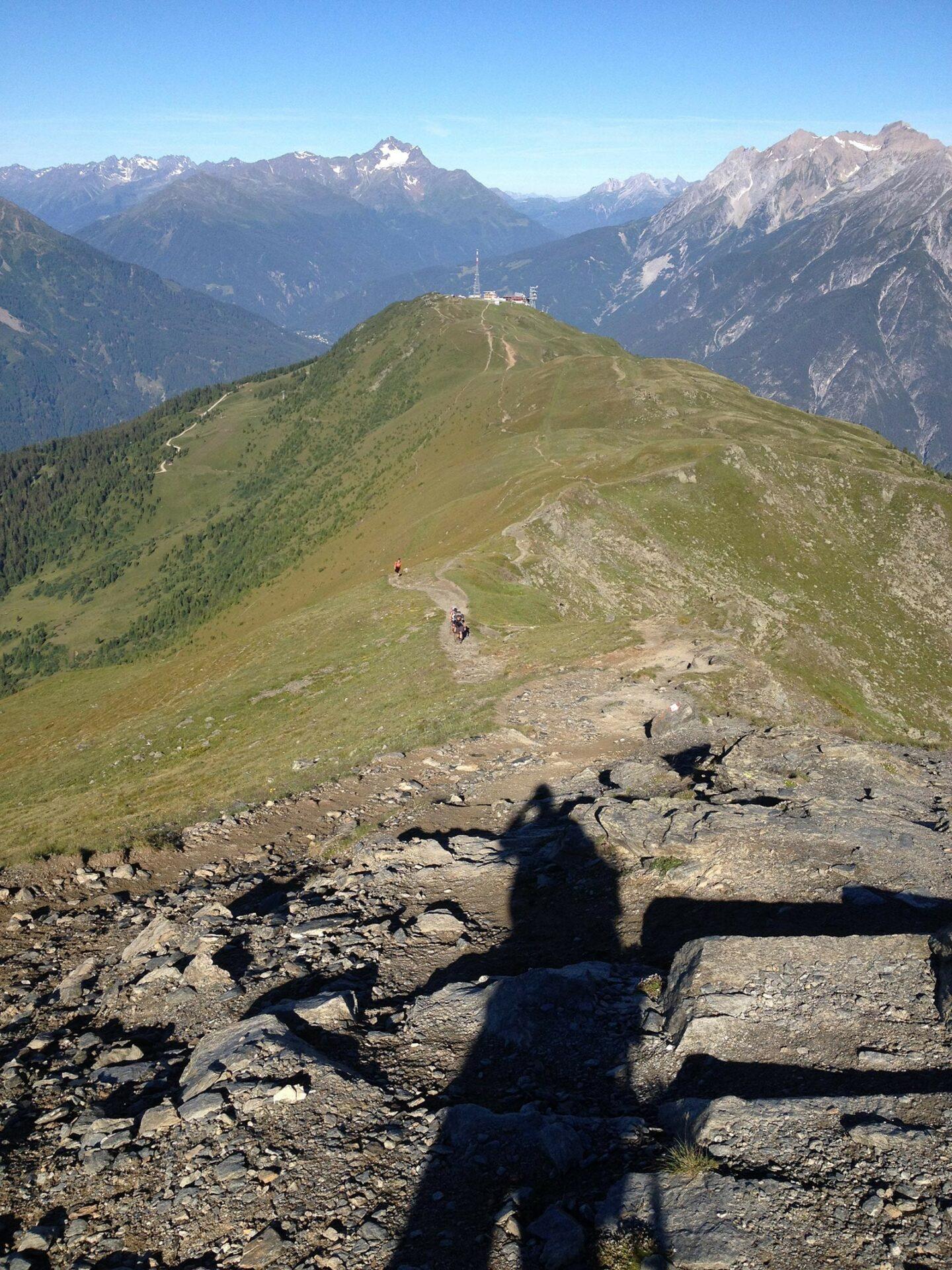 Blick zurück zur Venet-Bergbahn