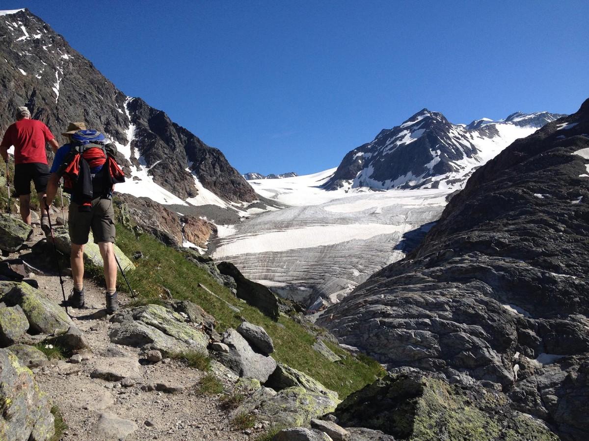 Pitztaler Gletscher beim Aufstieg zur Braunschweiger Hütte