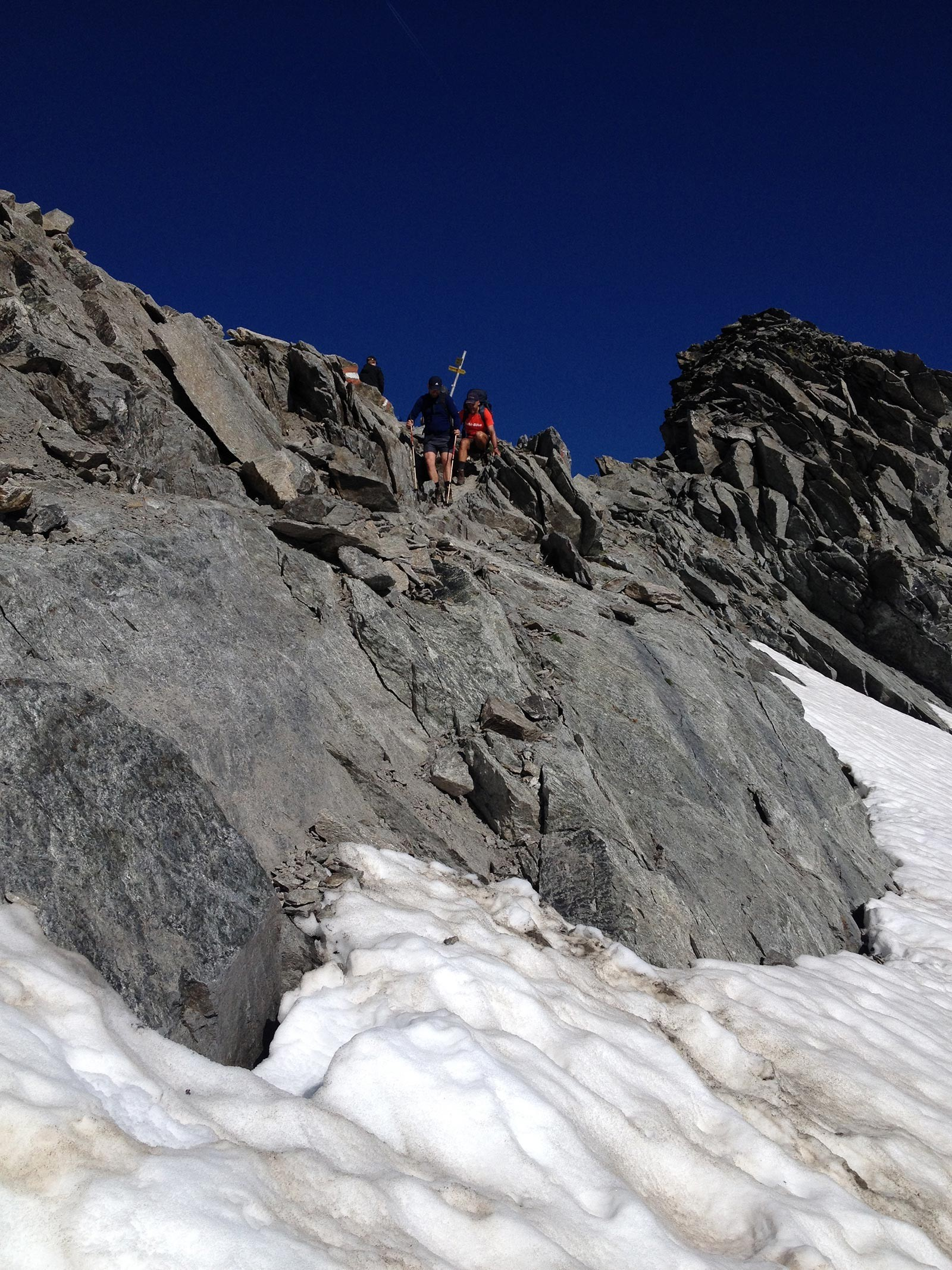 Abstieg vom Pitztaler Jöchl zum Rettenbachferner