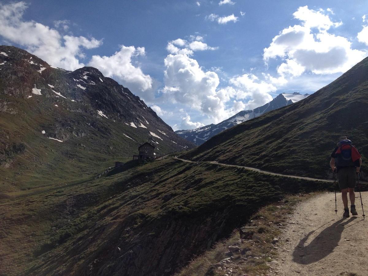 Aufstieg zur Martin-Busch-Hütte
