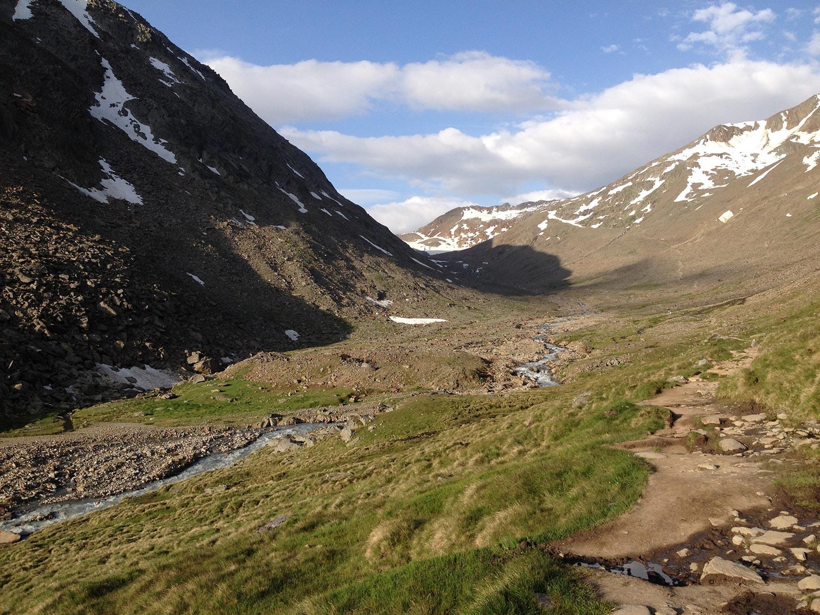 Aufstieg in Richtung Similaun-Hütte