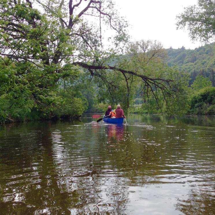 Kanu fahren auf der Altmühl