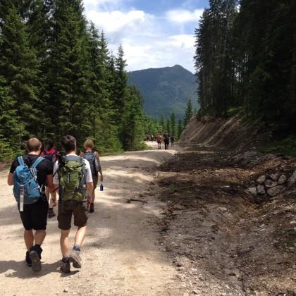 Aufstieg zur Guffert-Hütte