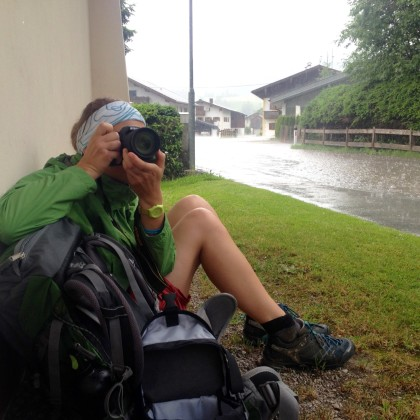 Unsere Foto-Journalistin bei der Arbeit