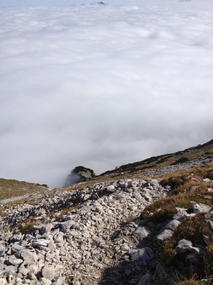 Blick zurück ins Wolkenmeer
