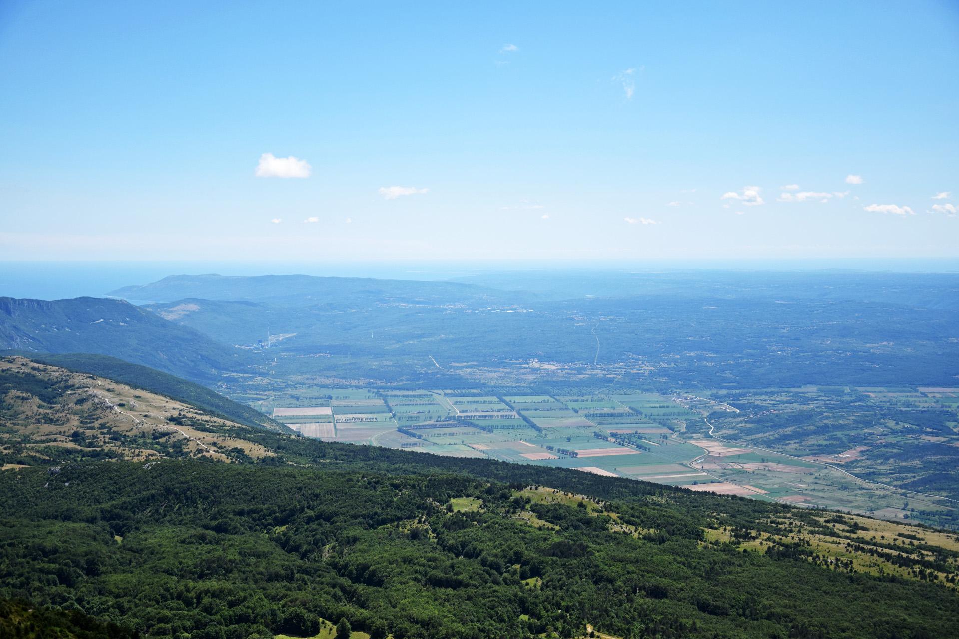 Ausblick über Istrien