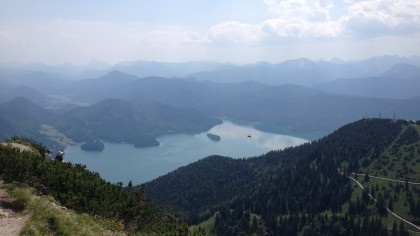 Der Walchensee von oben