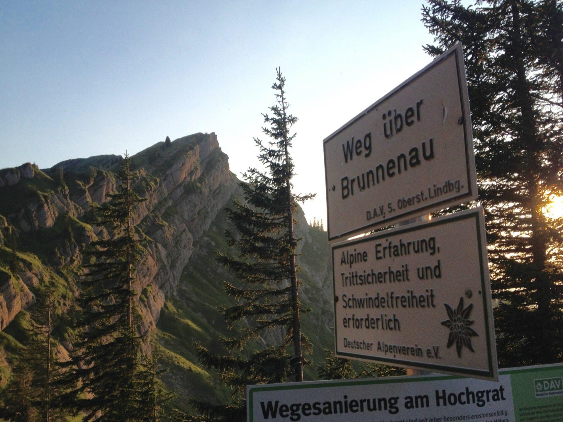 """Ende des """"Klettersteigs"""""""