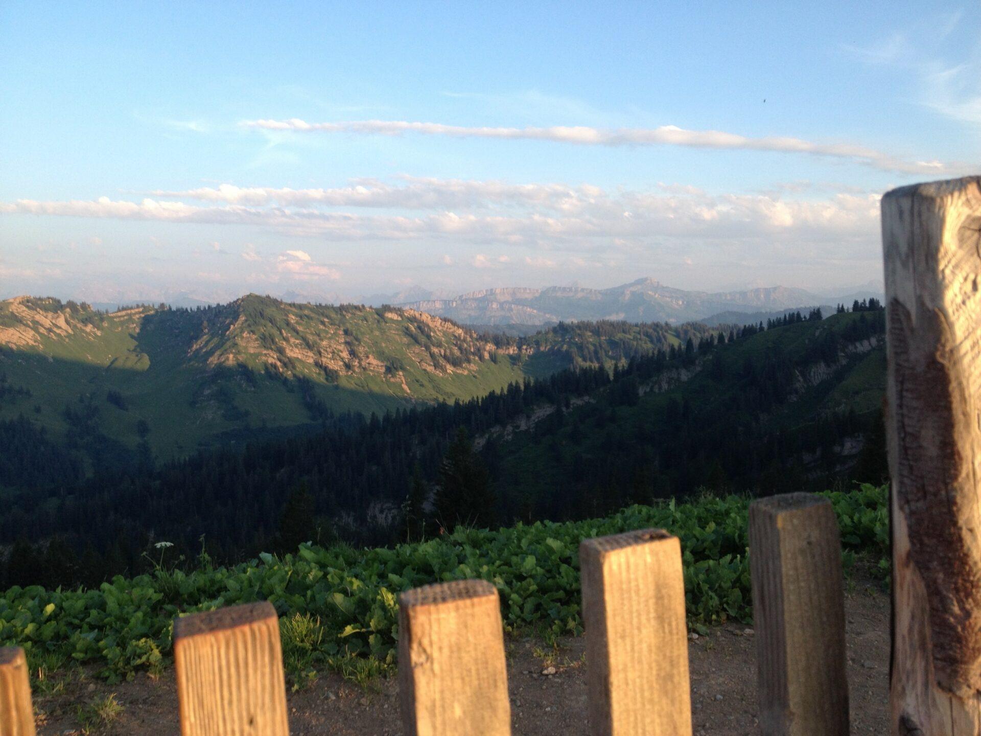 Ausstieg und Panorama