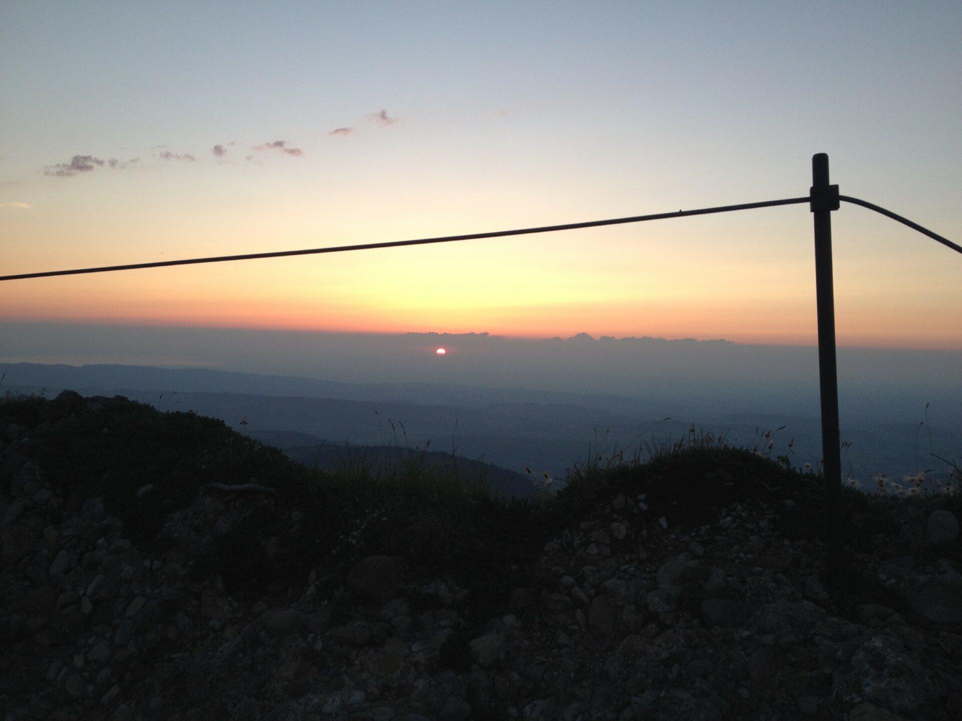 Sonnenuntergang am Hochgrat