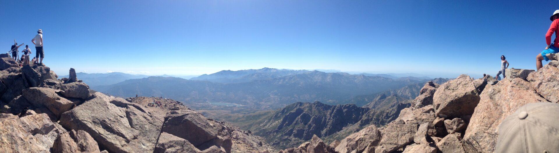 Blick vom Monte Cinto-Gipfel nach Süden