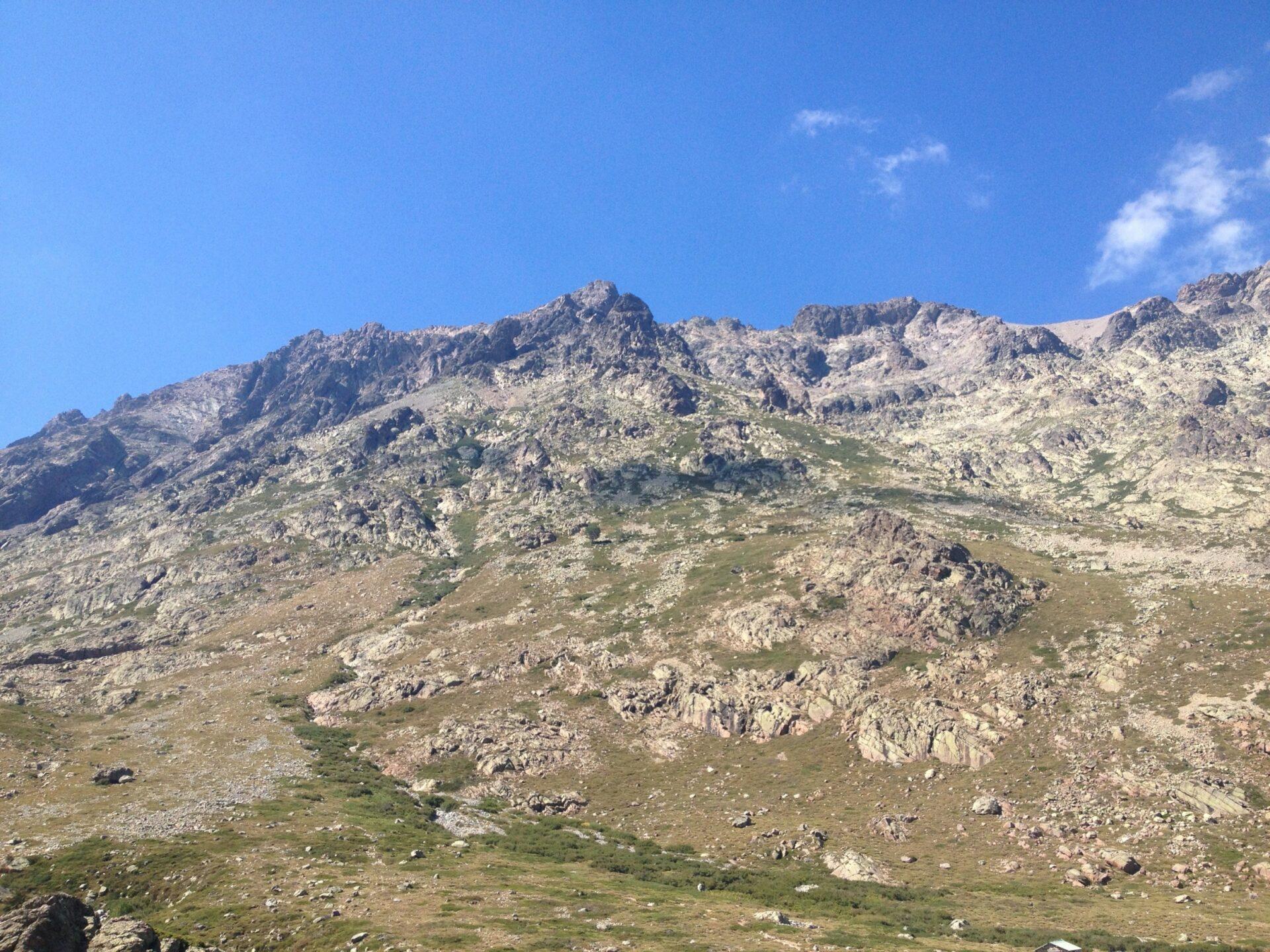 Blick zurück auf den Monte Cinto