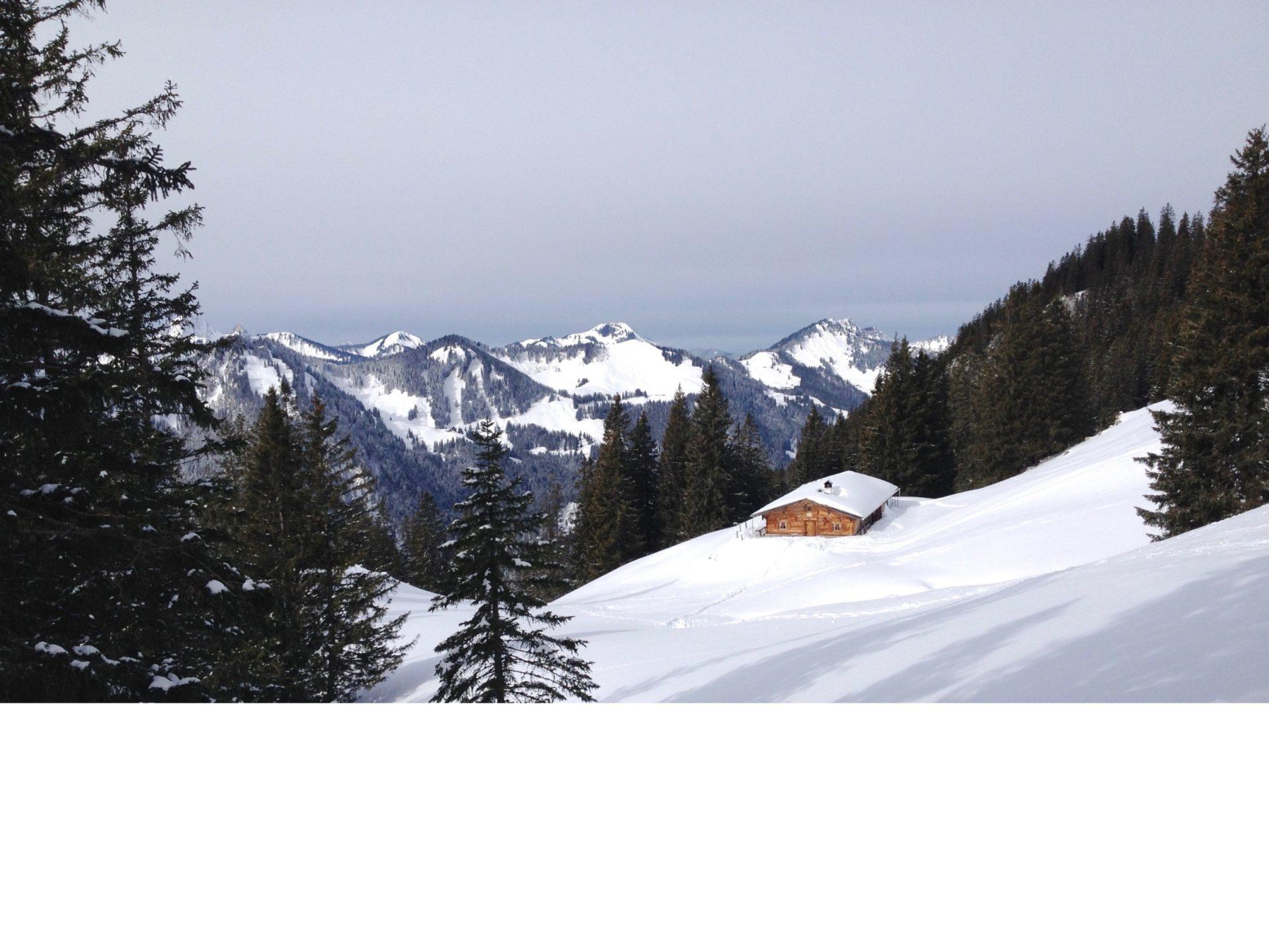 Rotwand Reibn: Blick in Richtung Brecherspitz und Bodenschneid
