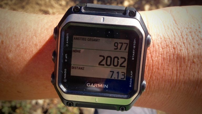 GARMIN EPIX: Aktuelle Position auf Tour