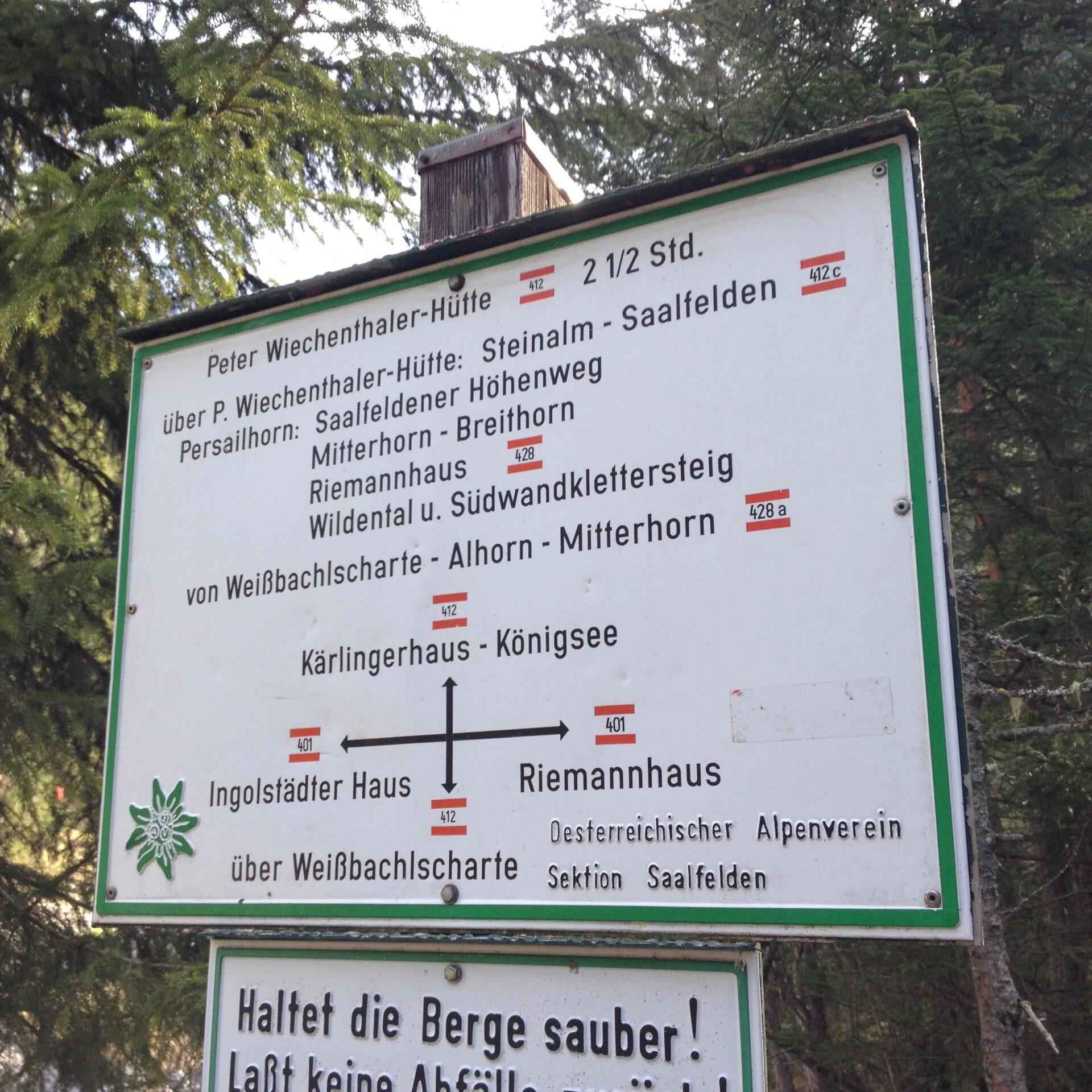 Aufstiegsmöglichkeiten zur Peter-Wiechenthaler-Hütte