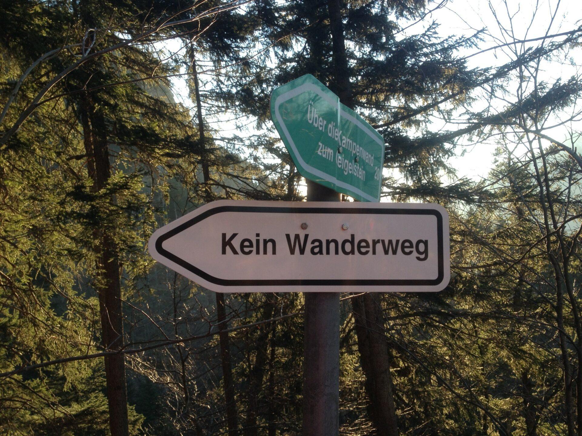 Kein Wanderweg - oder doch?
