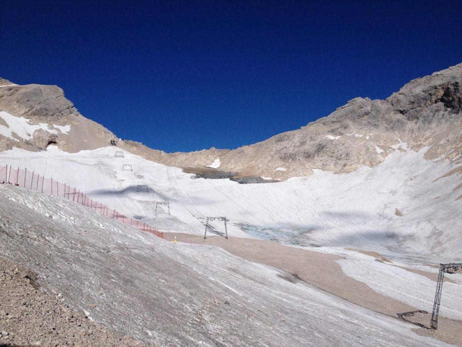 Blick auf den Gletscher-Rest