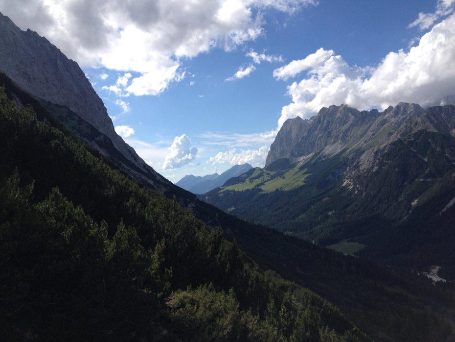 Blick zurück zur Ehrwalder Alm