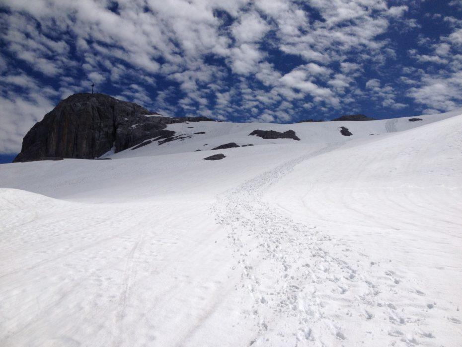 Schnee Ende Juni im Rätikon