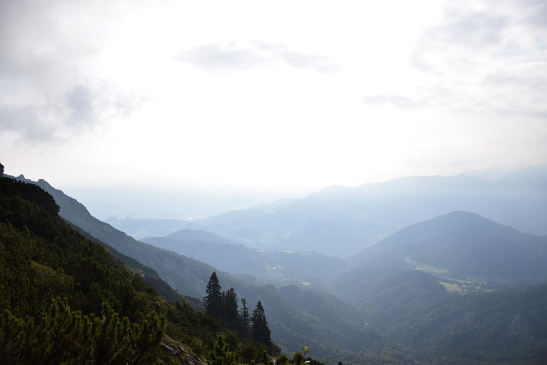 Ausblick beim Abstieg