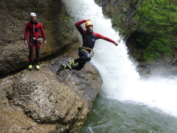 Canyoning im Allgäu, Bild: Die Canyonauten