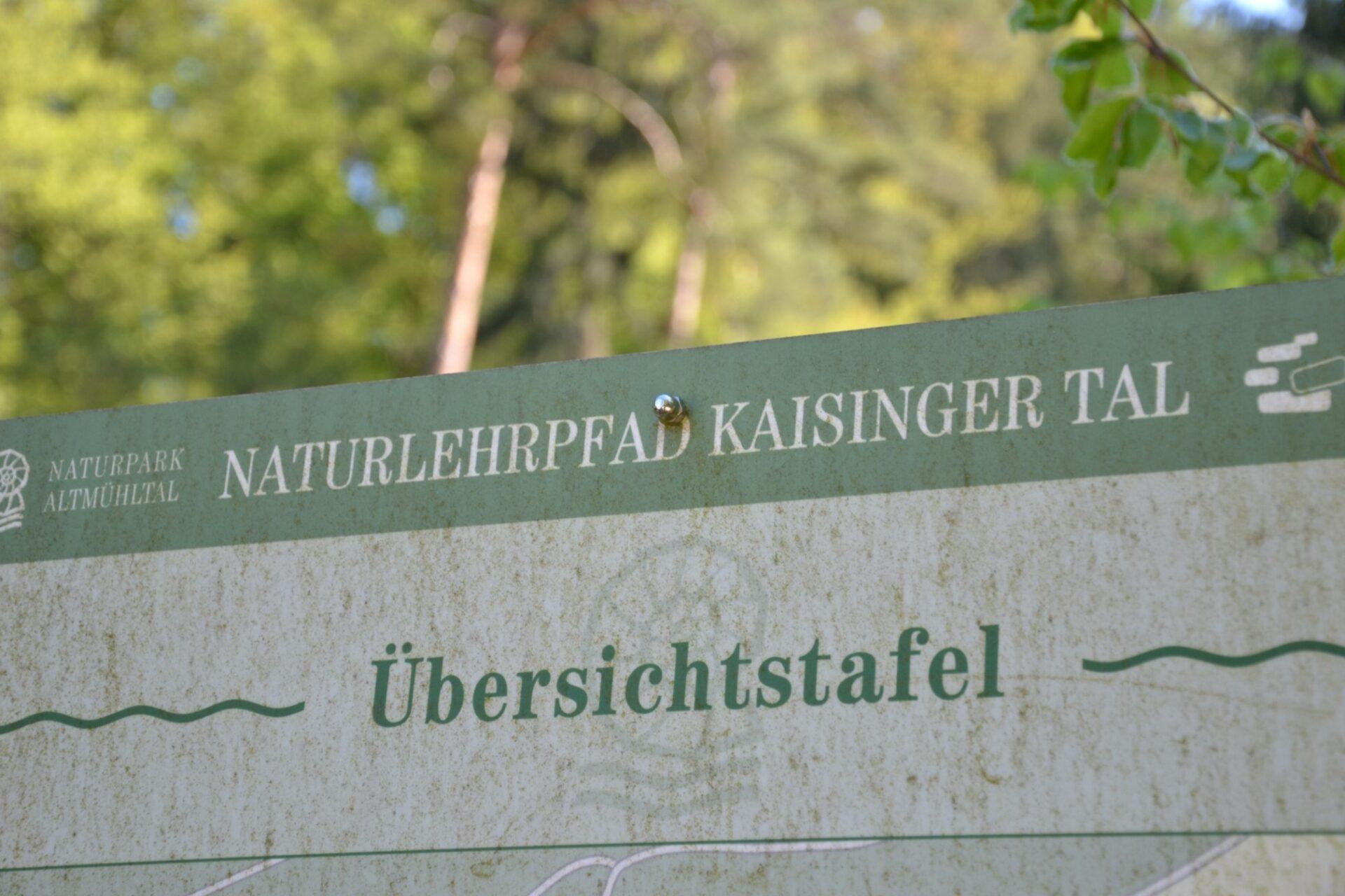Auf dem Naturlehrpfad Kaisinger Tal