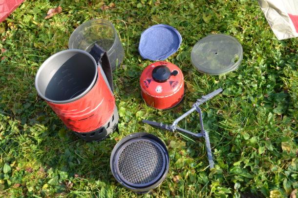 Das komplett Paket: MSR WindBurner Gaskocher-System