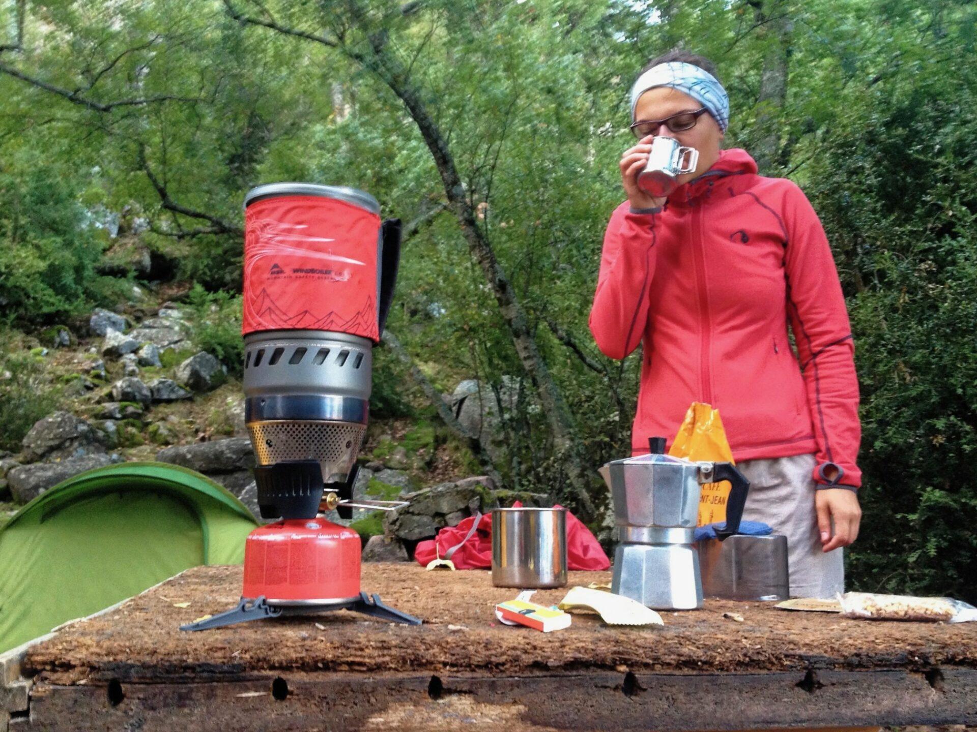 Frühstück, MSR WindBurner Gaskocher-System