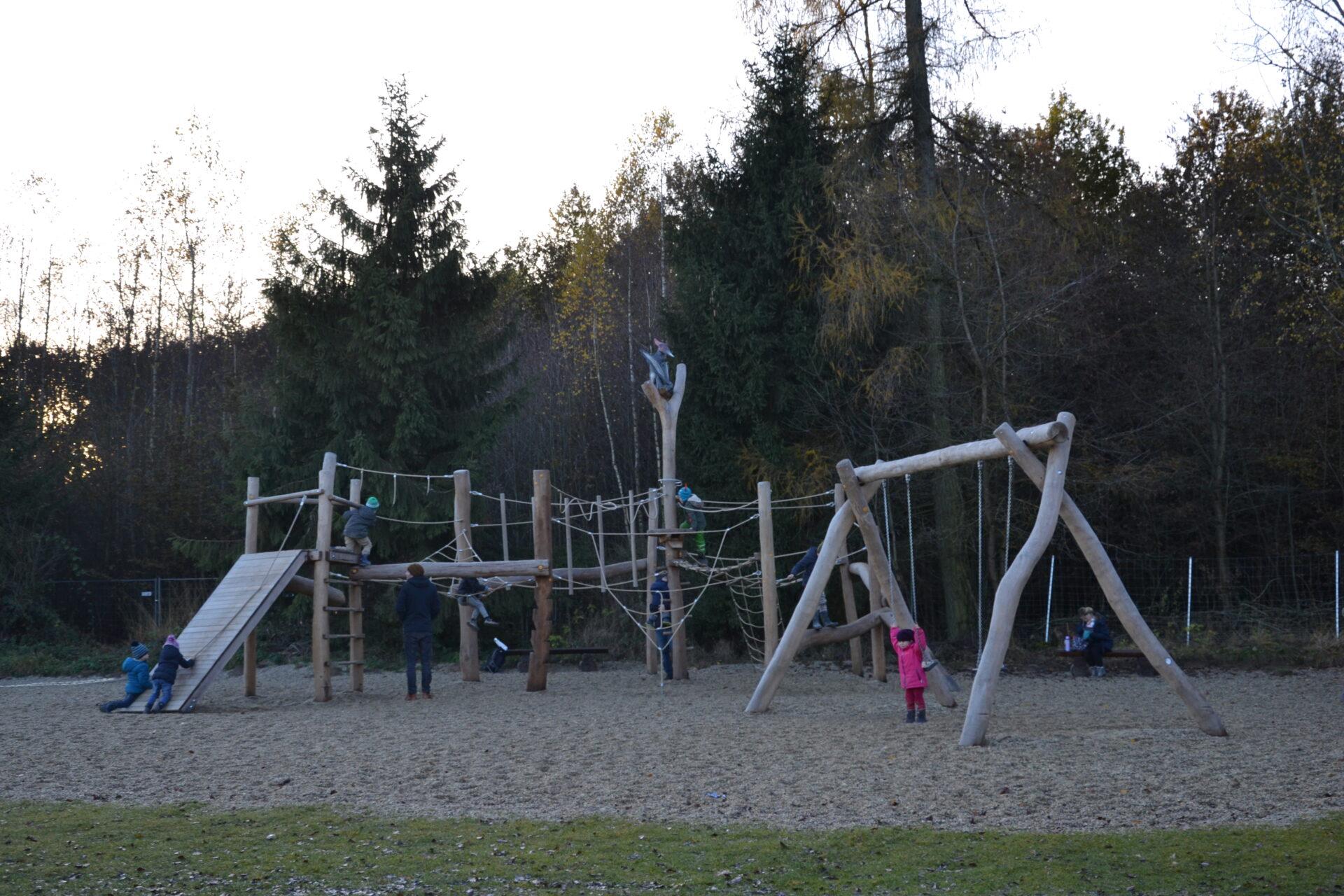 Der Spielplatz am Eingang