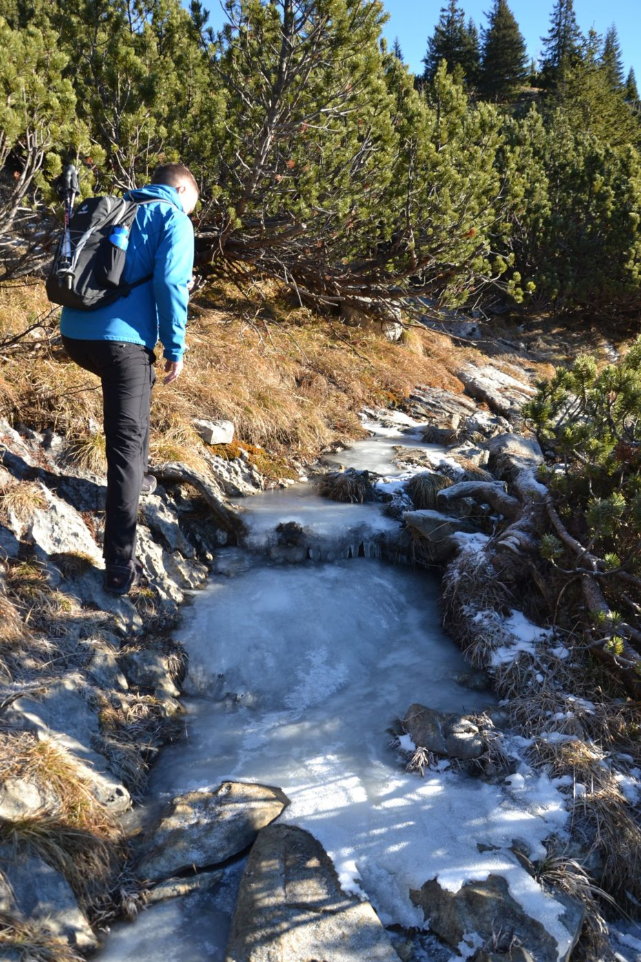 Etwas Eis beim Aufstieg