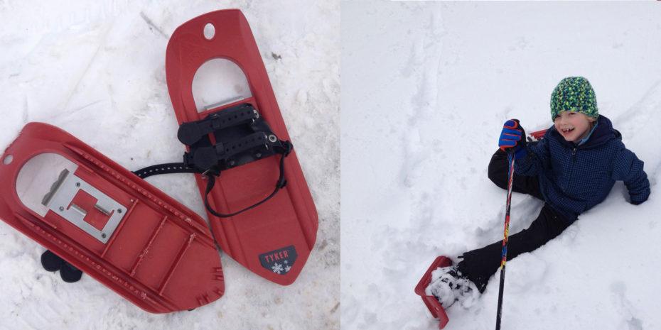 Schneeschuh wandern macht auch Kindern richtig Spass: Am besten querfeldein
