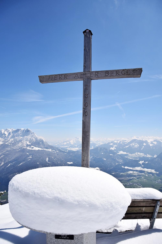 Pendling: verschneiter Gipfel