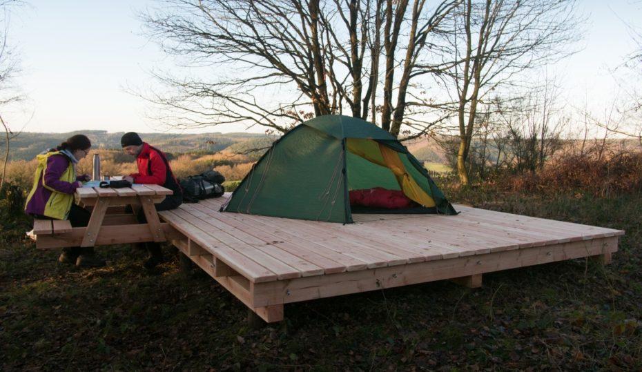 Trekking-Biwakplatz in der Eifel, Bild: trekking-eifel.de