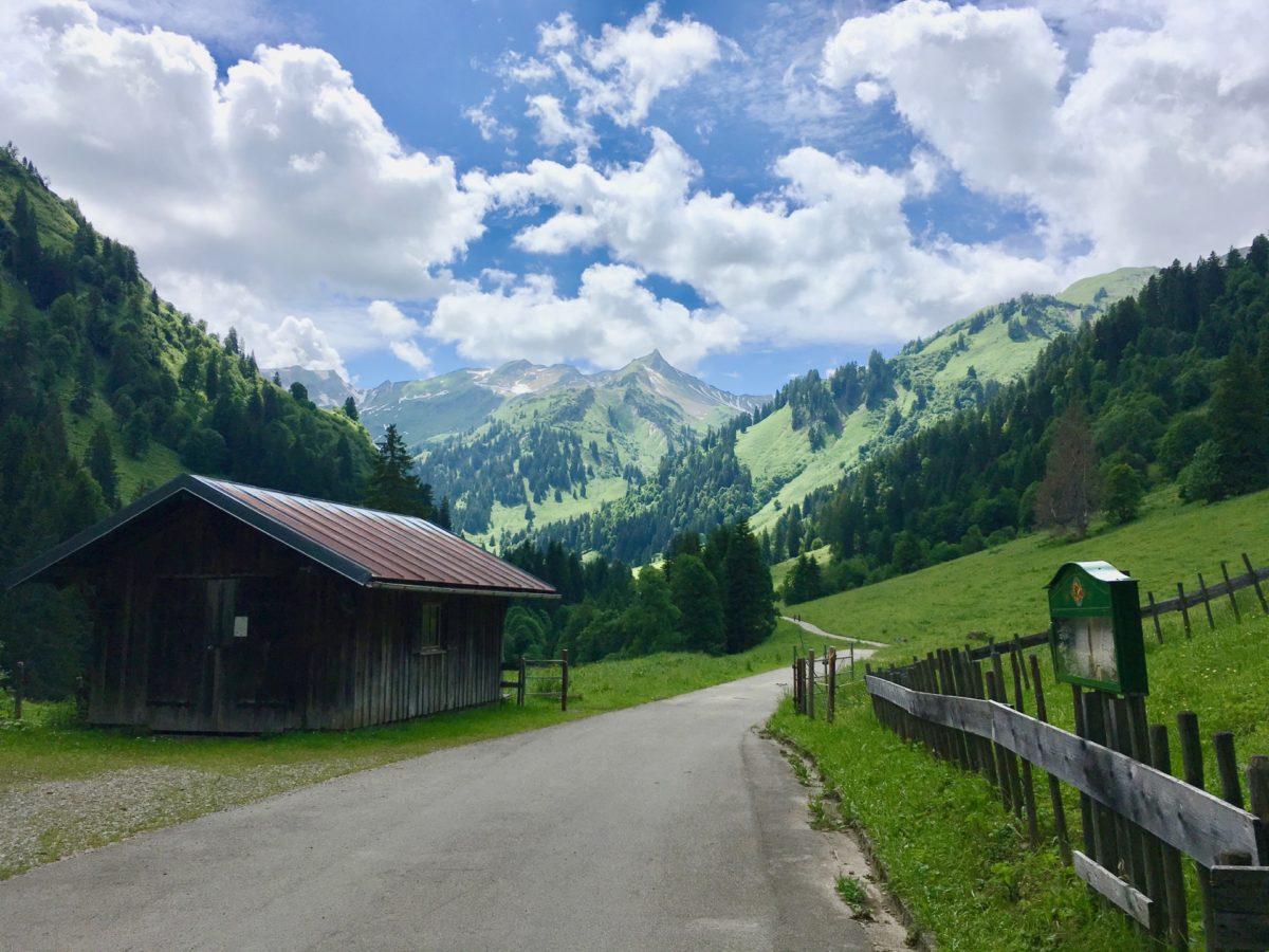 Blick ins Obertal und in Richtung Nebelhorn & Co.