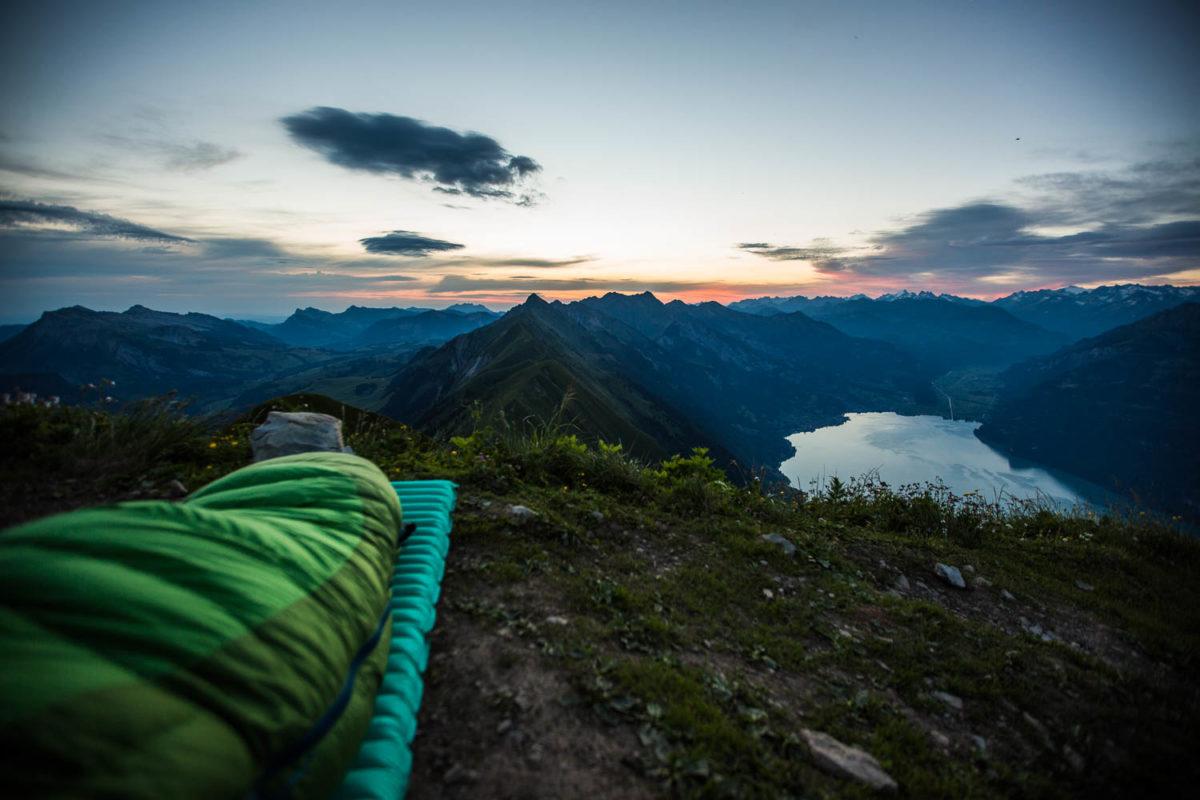 Einmaliger Ausblick - Sonnenaufgang im Biwak, Bild: Erika Spengler/ulligunde.com