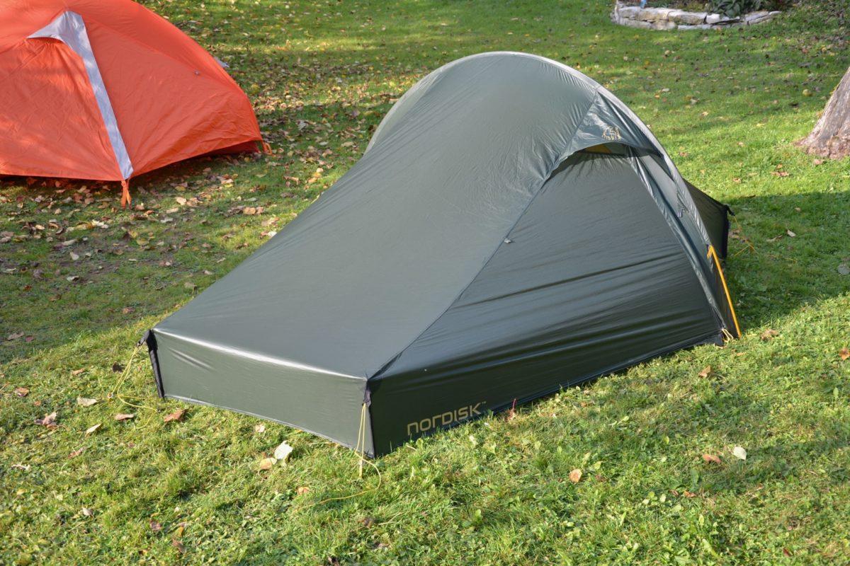 Das Nordisk Telemark 2LW Leichtzelt: 950g für ein komplettes Zelt…