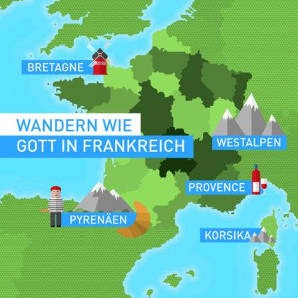5x Wandern wie Gott in Frankreich