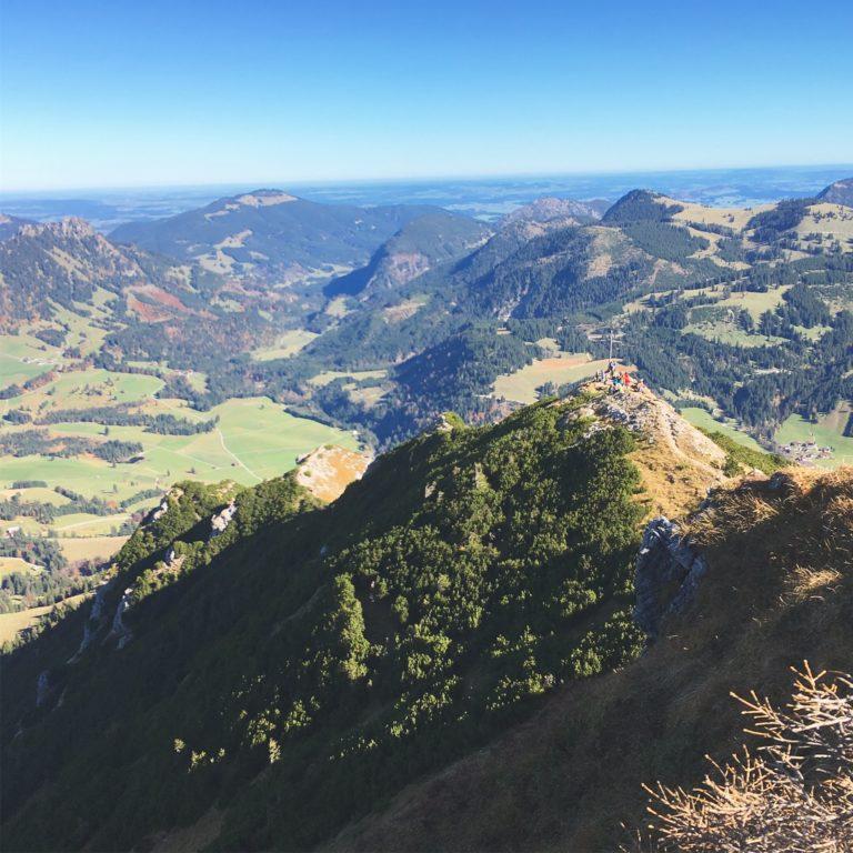 Kühgundspitze und der Abstiegsgrat
