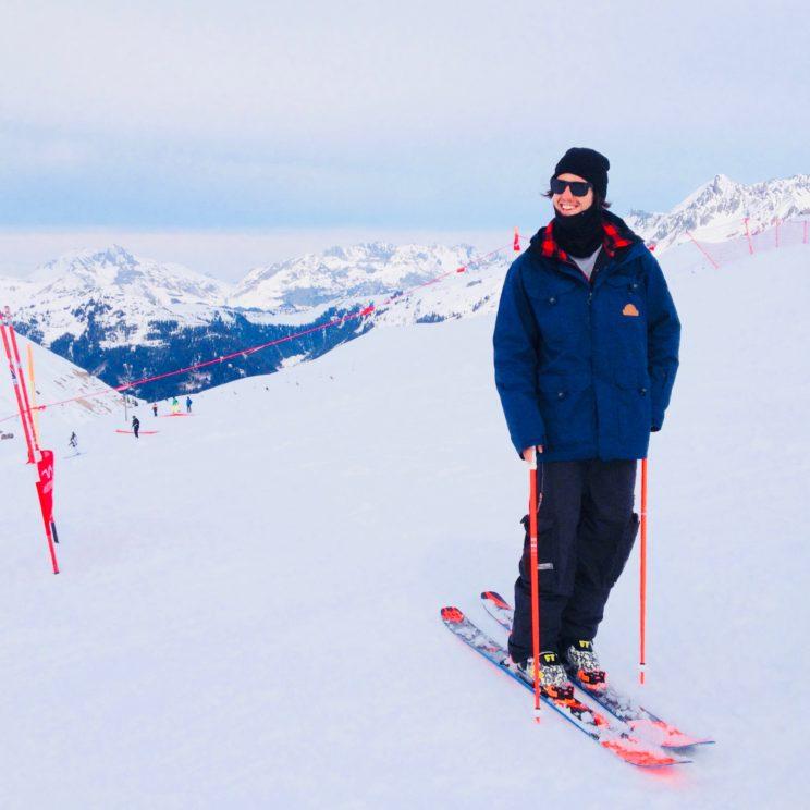 Chris, der Head-Shaper im Snowpark Montafon.