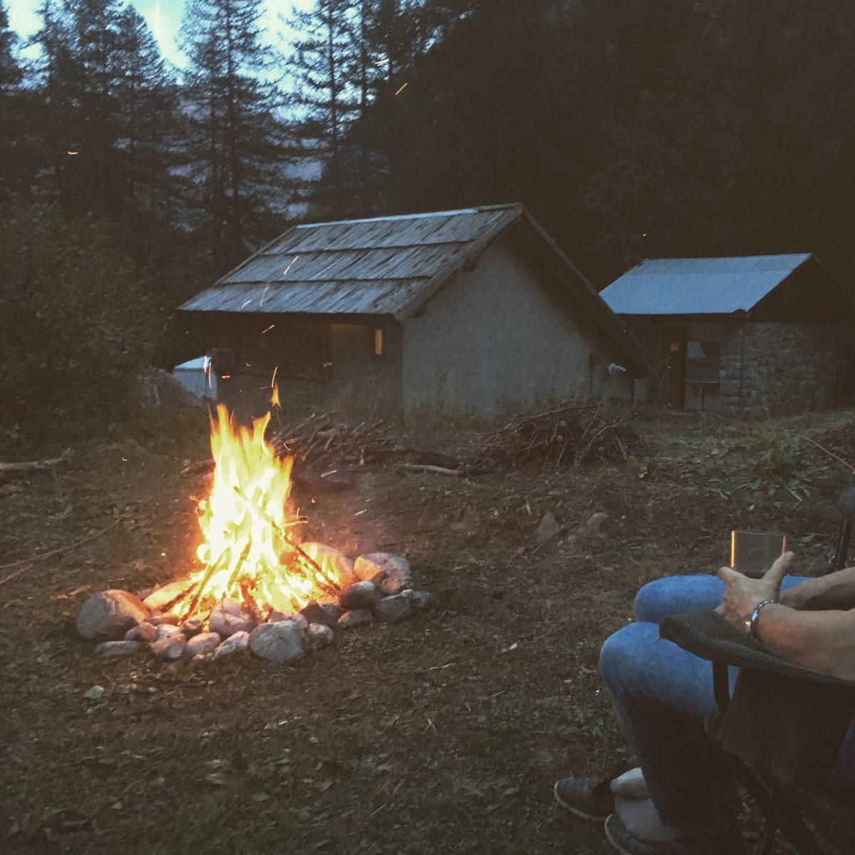 Am Campingplatz ist offenes Feuer erlaubt
